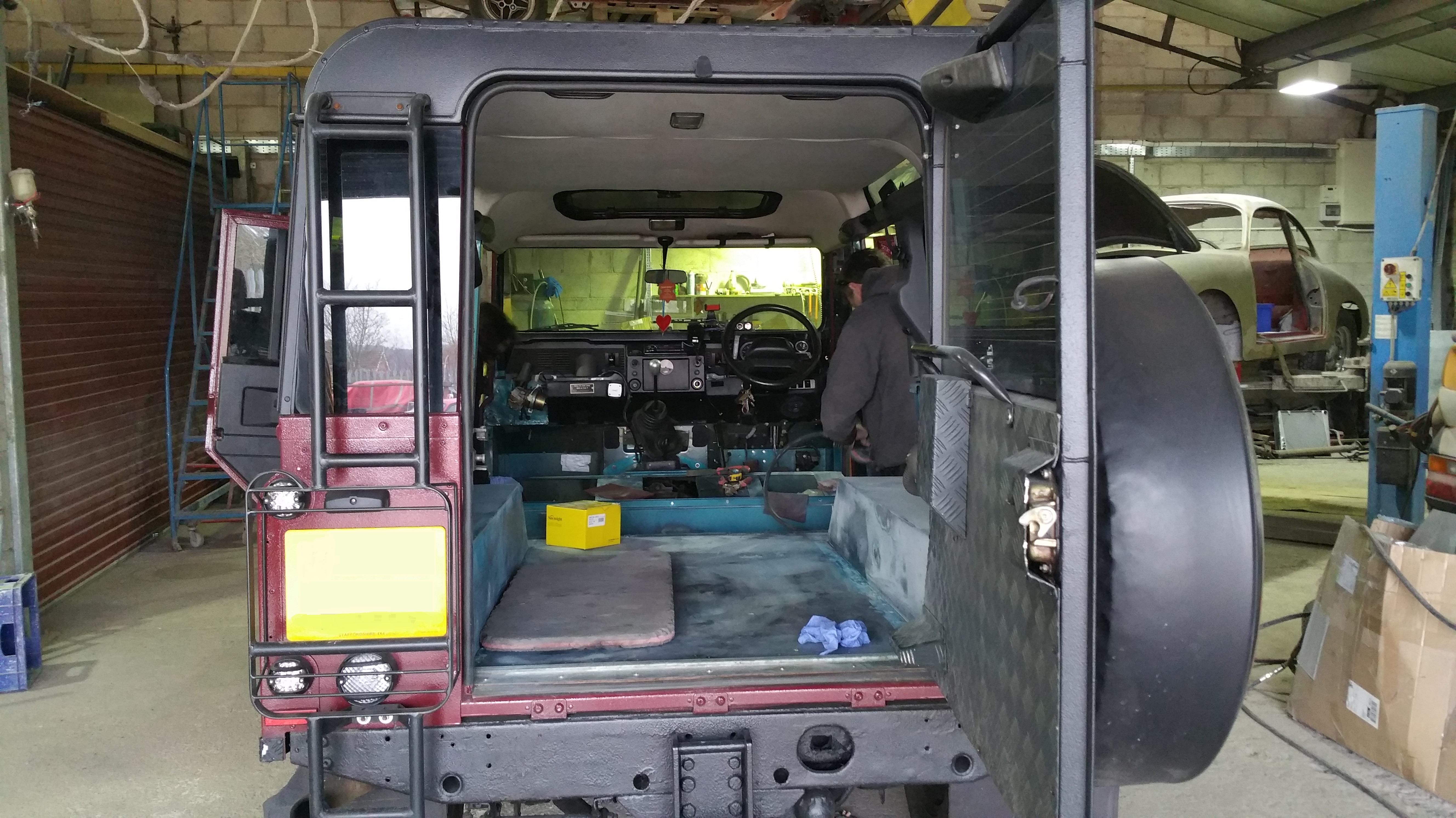 Defender 110 Work in progress | Land Rover Specialists