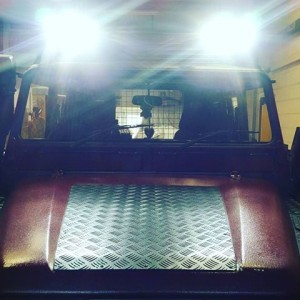 Defender 110 all lit up | Land Rover Specialists